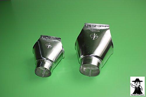 Rinneneinhangstutzen für Dachrinne Titanzink in 3 Größen (groß-6 TLG auf 100mm )
