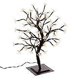 Nipach GmbH 64 LED Baum mit Blüten Blütenbaum Lichterbaum warm weiß 45 cm hoch Trafo IP44 Weihnachtsbeleuchtung Weihnachtsdeko Lichterdeko Xmas