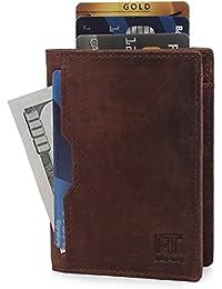 Wallets For Men Slim Mens Leather Minimalist Card Front Pocket Bifold Travel Thin