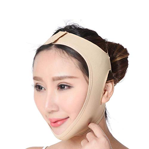 CY Face-Lifting-Maske, Facial Lifting Slimming V-Maskenbandage Reduziert Die Doppelkinn-Gesichtspflege (Size : S)