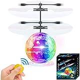 Flying Ball Toys RC Infrarouge Induction Hélicoptère Télécommande Spinner Rechargeable Drone avec Cristal Brillant LED Lumière Halloween Cadeau De Noël D'anniversaire Idées pour Enfants Garçon Fille