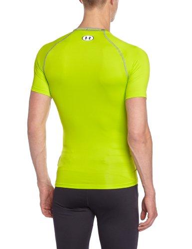 Under Armour HG Sonic-Maglietta da uomo Verde fluorescente M Verde fluorescente