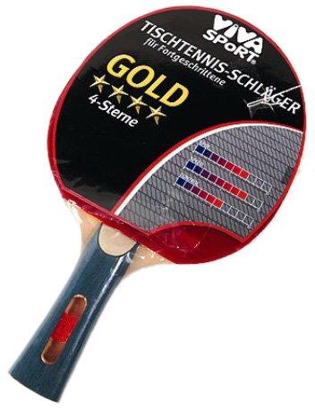 TischTennis-Schläger 4**** Gold Viva Sport I+S 74402 [Spielzeug]