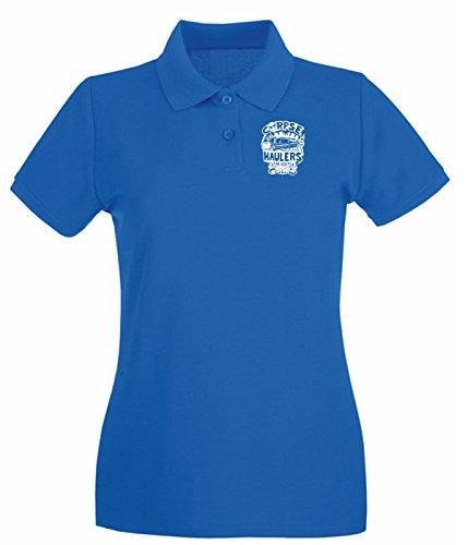 T-Shirtshock - Polo pour femme FUN1040 corpse haulers guys cu 3 1 Bleu Royal