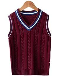 Kinder Pullover Weste British College Wind Baumwolle Kind Pullover Weste  Student Schuluniform a08e5a2b95