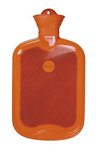 2,0 Liter Sänger Gummi-Wärmflasche (orange)