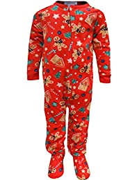 fdfc62c30 Komar Kids Boys' Gingerbread Men Toddler Christmas Blanket Sleeper Pajama