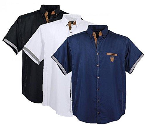 Zum Shop · 1128 Iceblue Herrenhemd kurzer Arm Übergröße Lavecchia Gr. 3-7 XL faa84a4876