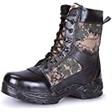 PARA COMMANDER Men's Black Leather Safety Shoes, Industrial, Construction, Foot Protection Safety Shoes