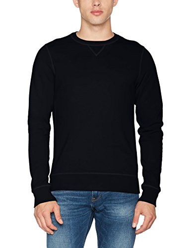 Scotch & Soda Herren NOS - Classic Crew Neck Sweat Sweatshirt, Blau (Night 58), X-Large - Classic Crew-pullover
