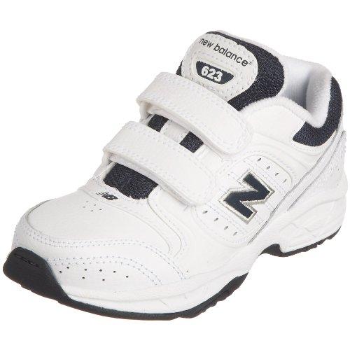 Novas Ginástica Equilíbrio Unisex-criança Sapatos Brancos - Branco / Azul