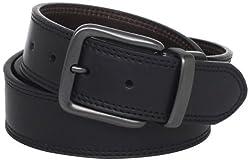 Levis Mens Wide Reversible Casual Jeans Belt, Black/Brown, 36