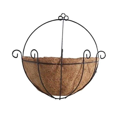 Baoblaze Pot de Fleur Planteur Panier Noix Coco Moitié Cache-pot Accrochante - 12 pouces