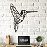 Lasaani Bird ACP Wall Plaque Painted Cutout Stickable Home Decor Wall Art (Glossy Black), WP032