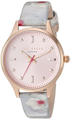 Ted Baker Women's 'ZOE' Quartz Stainless Steel and Leather Casual WatchMulti Color (Model: TE50001002)