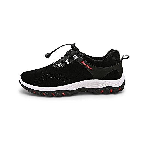 Herren Sneaker / Wanderschuhe / Turnschuhe, atmungsaktiv, weich, ultraleicht Schwarz