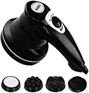 AGARO ATOM Electric Handheld Full Body Massager with 3 Massage Heads & variable speed settings for pain re