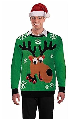 Forum Novelties Green Reindeer Sweater Adult Costume (XLarge)