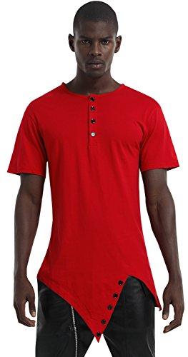 pizoff-unisex-longline-unbalance-diagonal-cut-tee-t-shirts-with-asymetrical-hem-p3118-red-xl