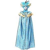94e1ffb8dfe5 VESTITO COSTUME Maschera di CARNEVALE Adulti DOMINO Veneziano turchese -  Taglia UNICA