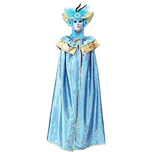 Pegasus vestito costume maschera di carnevale adulti domino veneziano turchese - taglia unica