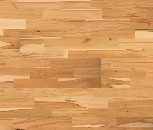 *HORI® Klick Parkett 300 Dielenboden Parkettboden Buche Variant Schiffsboden 3-Stab versiegelt I Buche I 4 Dielen im Paket = 1,92 m²*