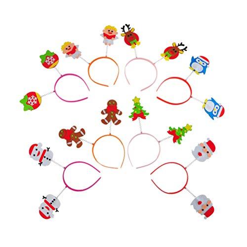 Toyvian 3pcs Cintas Navidad Papá Noel Muñeco Nieve