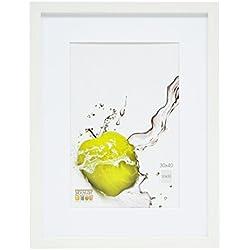 Deknudt Frames S66KF1-P1-30.0X40.0 - Cornice quadro / foto Basic, bordi in legno/MDF, colore bianco, 30 x 40 cm