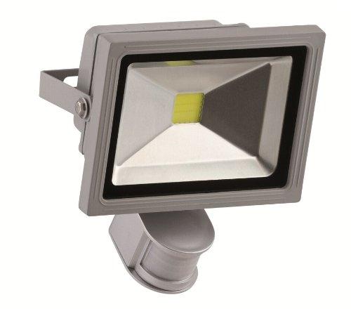 Format 4048599110287–LED Fluter 20W Silber M. bewegungsmelder. IP 44