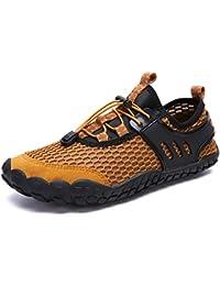 GJRRX Zapatos de Agua Hombre Mujer Zapatillas Snorkel Bucear Surf Deportes  Acuáticos Escarpines Vela Mar Río Aqua Calzado Piscina… 2709f332cd1