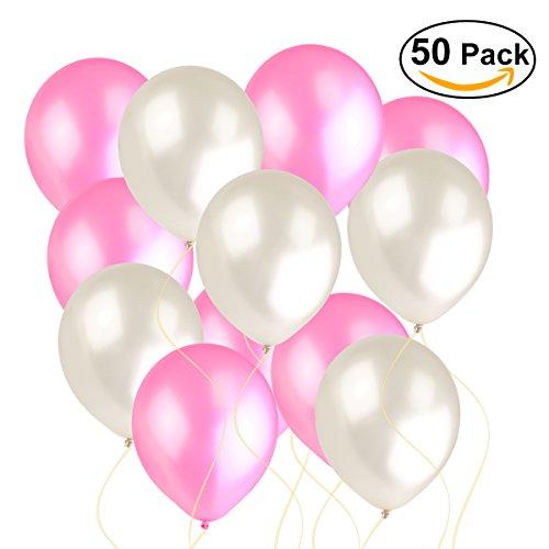 NUOLUX Luftballons, weiße und le...