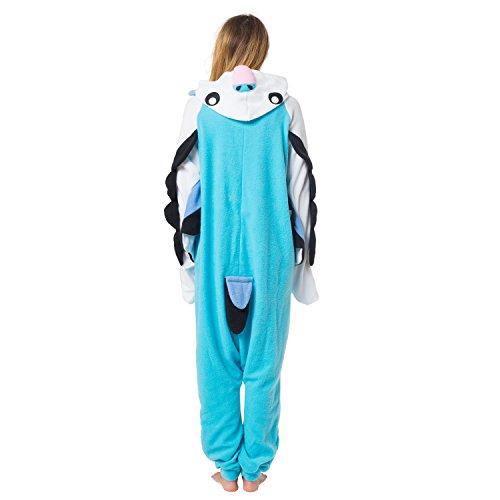 Katara 1744 - Wellensittich Kostüm-Anzug Onesie/Jumpsuit Einteiler Body für Erwachsene Damen Herren als Pyjama oder Schlafanzug Unisex - viele verschiedene ()