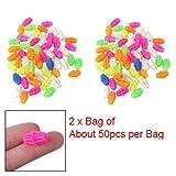 sourcingmap 2 Bag Colorful Plastic Clip Spoke Bead Bicycle Decor for Kid Bike