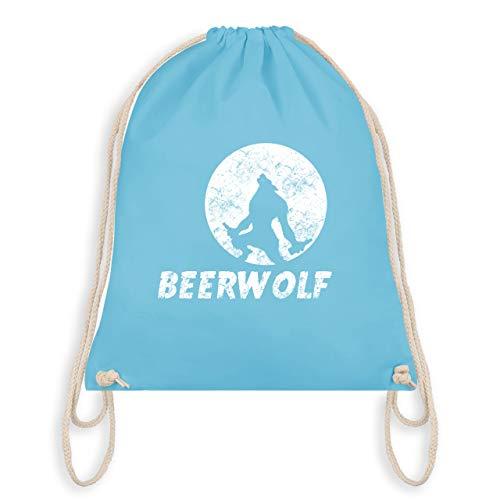Statement Shirts - Beerwolf - Unisize - Hellblau - WM110 - Turnbeutel & Gym Bag