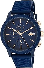 ساعة بسوار سيليكون ومينا باللون الازرق للرجال من لاكوست 12.12 - طراز 2011013