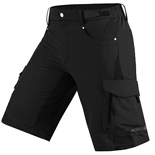 Cycorld Herren vielseitige Wanderhose Kurz Hiking Shorts Herren Outdoor Sport Hose mit pra