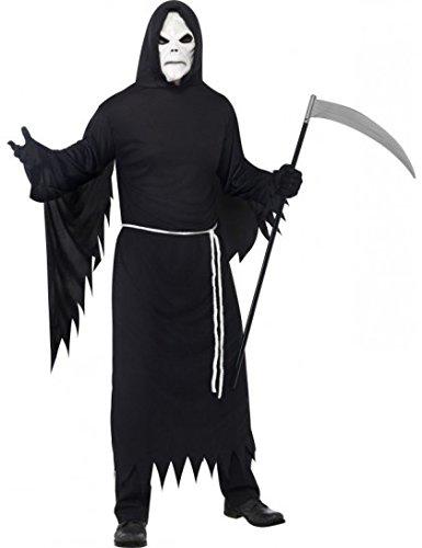 Kostüm Sensemann Maske Sensemannnkostüm Halloweenkostüm Halloween Gr. 48/50 (M), 52/54 (L), Größe:M