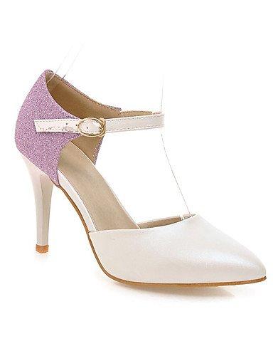 WSS 2016 Chaussures Femme-Habillé / Décontracté / Soirée & Evénement-Bleu / Rose / Blanc-Talon Aiguille-Talons / Bout Pointu / Bout Ouvert-Talons- pink-us10.5 / eu42 / uk8.5 / cn43