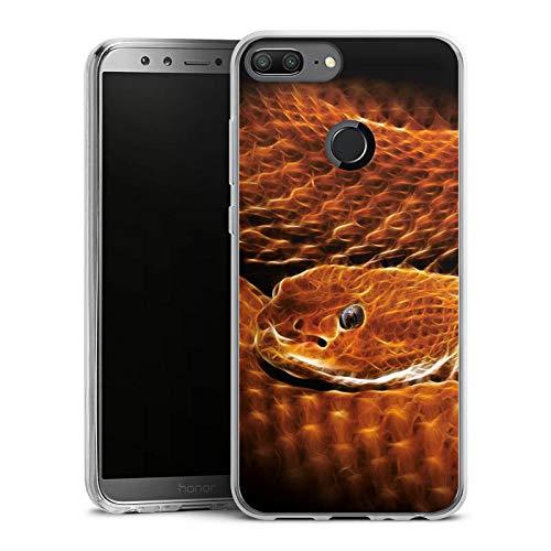 DeinDesign Slim Case kompatibel mit Huawei Honor 9 Lite Silikon Hülle Ultra Dünn Schutzhülle Schlange Animal Print Schuppen - 9 Schuppen