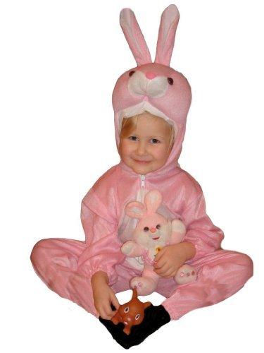 J02 Gr. 98-104 Hasenkostüm, Hasen Faschingskostüme, Hasenkarnevalskostüm, für Kinder, Jungen, Mädchen, für Fasching Karneval Fasnacht, auch als Geschenk zum Geburtstag oder Weihnachten (Großen Rosa Bunny Kostüm)