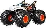 Mattel Hot Wheels-Monster Trucks Vehículo Shark Wreak 1:24, Coches de Juguetes niños +3 años, Multicolor GCX13