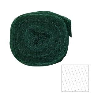 Xclou Garden Teichabdecknetz, Vogelschutznetz aus Polyethylen Netze, Grün/Schwarz, 27 x 5 x 28 cm