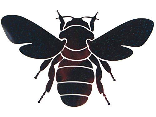 Bügelbild, Motiv: Biene, Größe: 15,5x9,5cm, Farbe: schwarz-regenbogen, Material: heißsiegelfähige Flexfolie 15.5