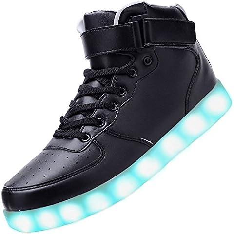 USB de carga de luz emiten zapatos coloridos zapatos Led luces zapatos de los niños zapatos