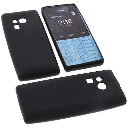 Tasche für Nokia 216 Gummi TPU Schutz Handytasche schwarz