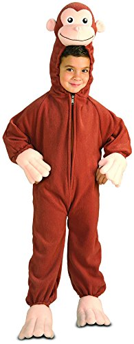 Rubies Fleece Curious George With Headpiece (George Curious Kostüme)
