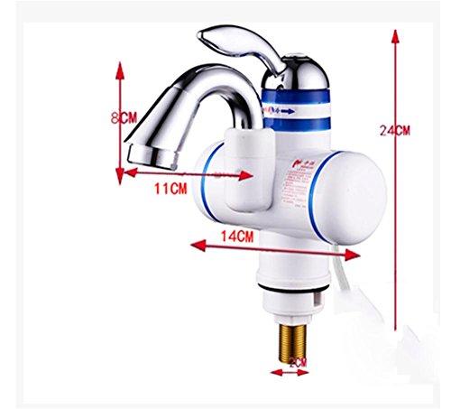 Sofort Beheizte Hahn Zwei Stile Elektrische Warmwasserbereiter KüChe Sofortige Warmwasserhahn Heizung Elektrische Wasser Wasserhahn Instantaneous Heater 3000W , 39CM-7W