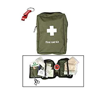 First Aid Kit Erste Hilfe Set large oliv + AOS-Outdoor® Flaschenöffner