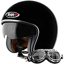 Shiro 235020 Jet Casco SH235, Negro Mate