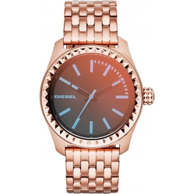 Diesel Kray Kray Mini Women's Quartz Watch with Multicolour Dial Analogue Display and Rose Gold Stainless Steel Bracelet Dz5451